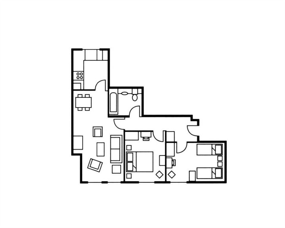The Knight Residence Two Bedroom Superior Floor Plan