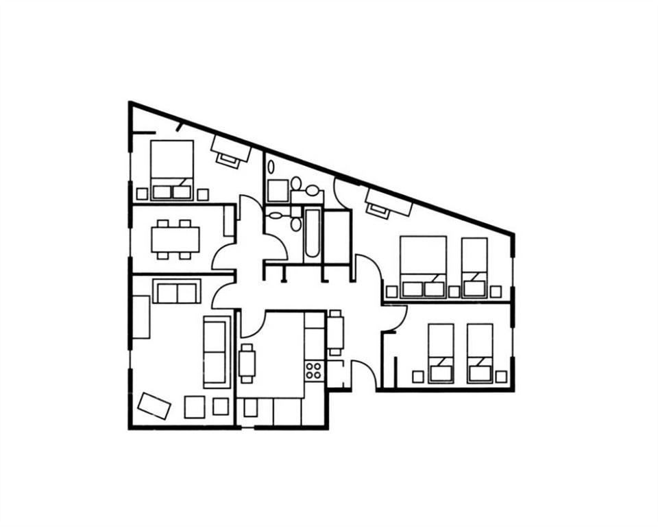 The Knight Residence Three Bedroom Floor Plan