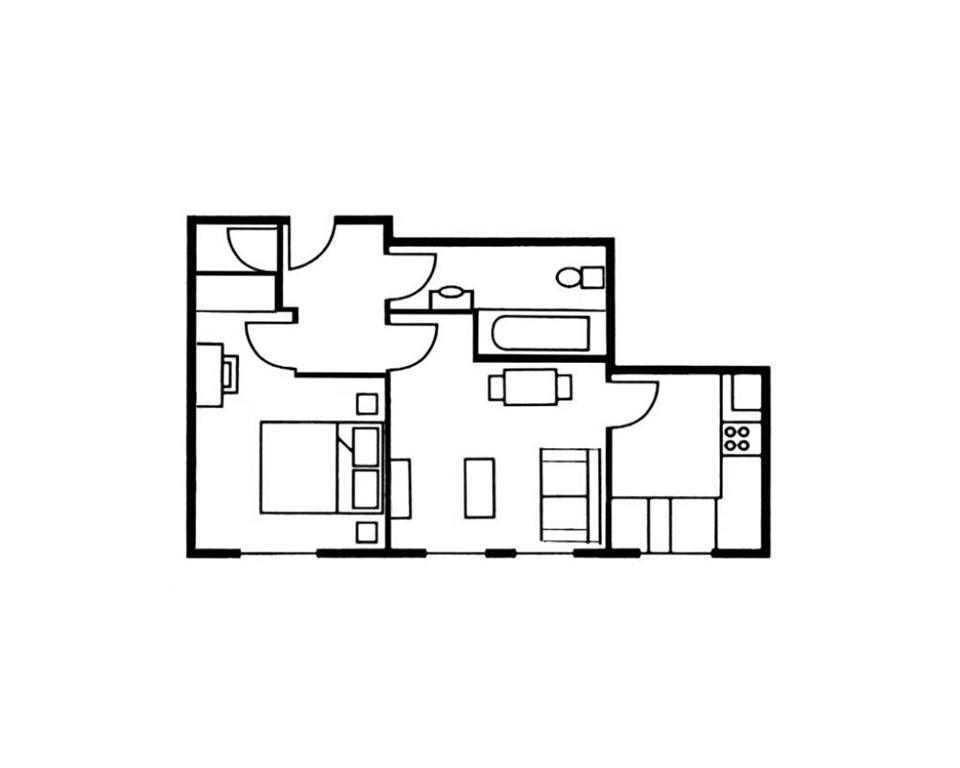 The Knight Residence Studio Apartment Floor Plan