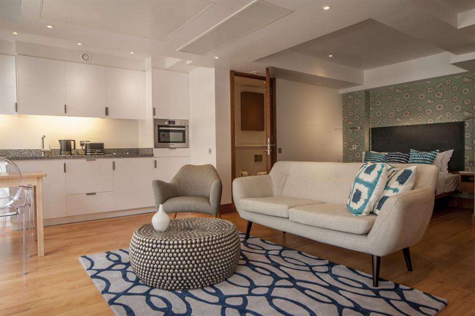 Tower Hill Open Premium Studio Apartment - Living Room