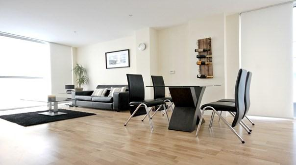 Still Life Canary Wharf Executive Apartments - Living and Dining Area