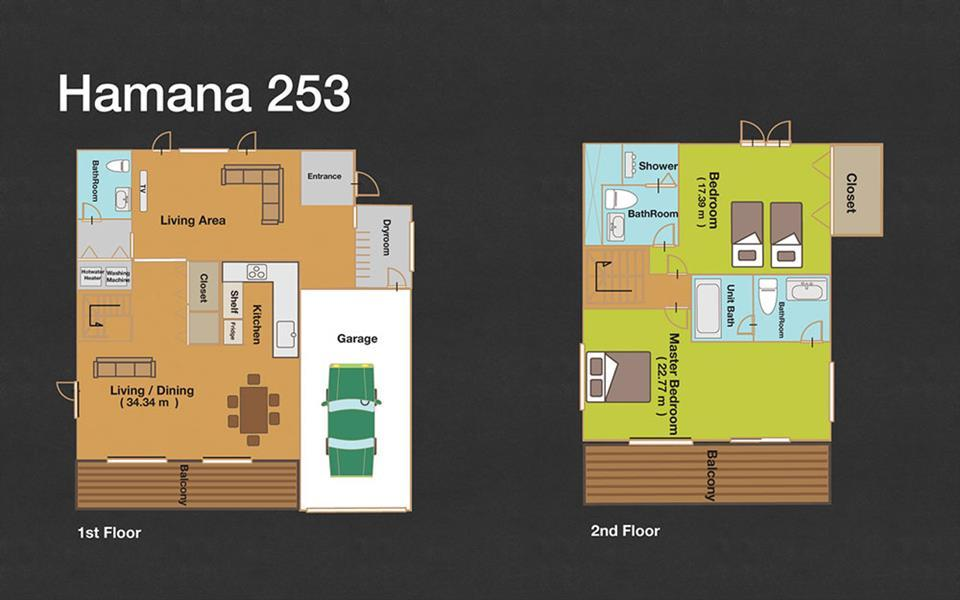 #floorplans 2 Bedroom Hamana 253