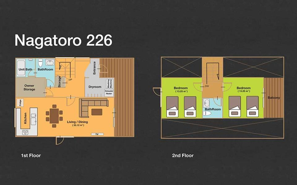 #floorplans 2 Bedroom Nagatoro 226