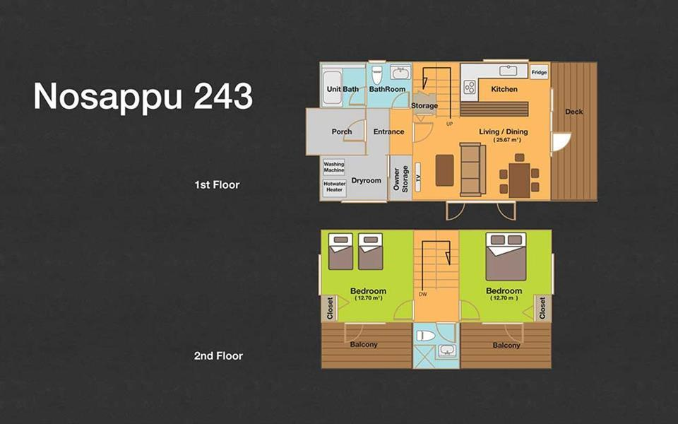 #floorplans 2 Bedroom Nosappu 243