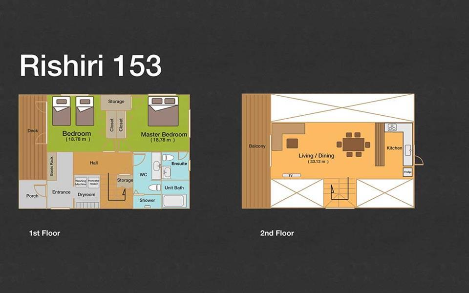 #floorplans 2 Bedroom Rishiri 153