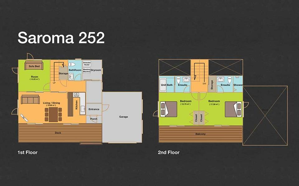 #floorplans 2 Bedroom Saroma 252