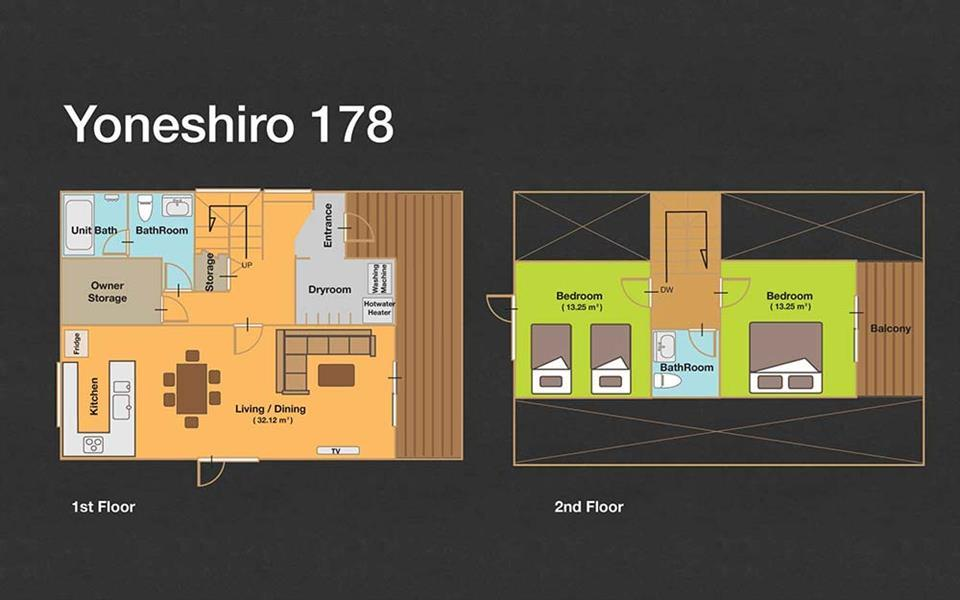 #floorplans 2 Bedroom Yoneshiro 178