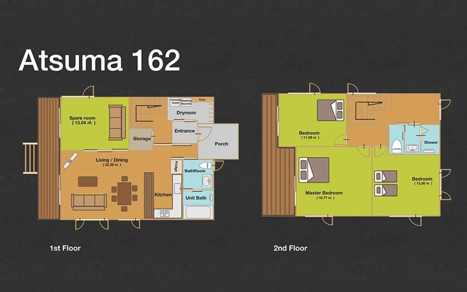 #floorplans 3 Bedroom Atsuma 162