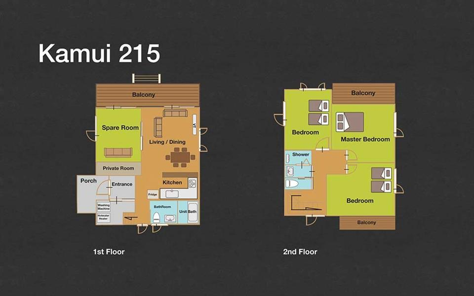 #floorplans 3 Bedroom Kamui 215