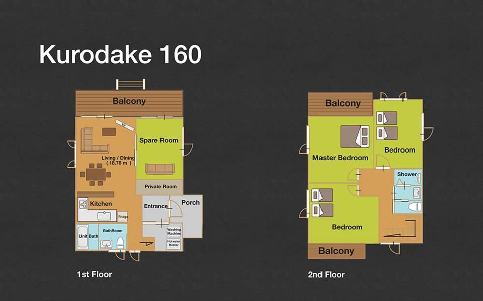 #floorplans 3 Bedroom Kurodake 160
