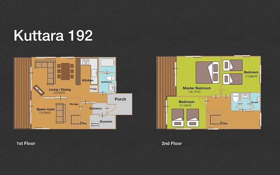 #floorplans 3 Bedroom Kuttara 192