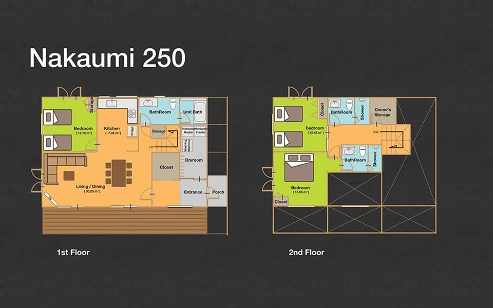 #floorplans 3 Bedroom Nakaumi 250