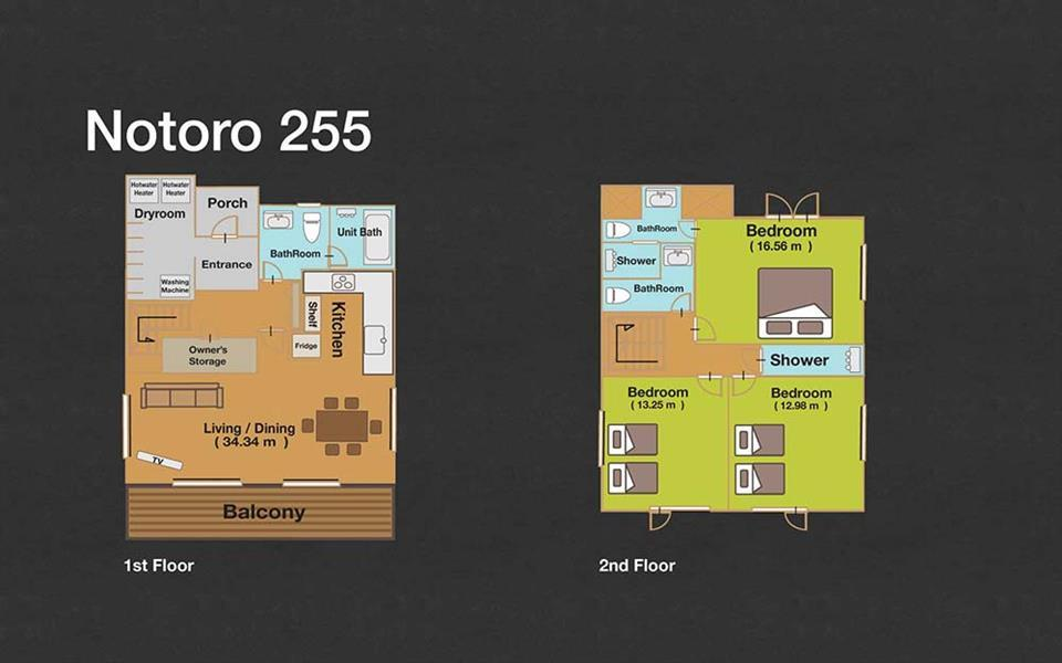 #floorplans 3 Bedroom Notoro 255