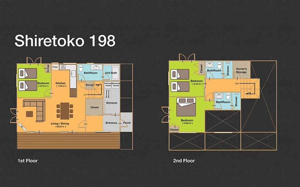 #floorplans 3 Bedroom Shiretoko 198
