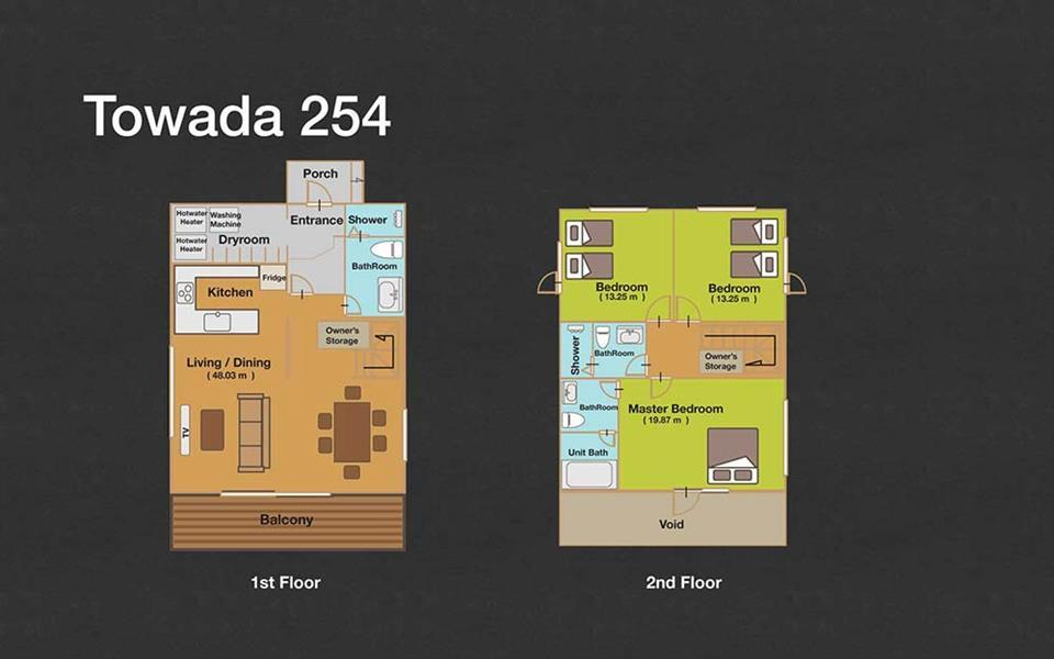 #floorplans 3 Bedroom Towada 254