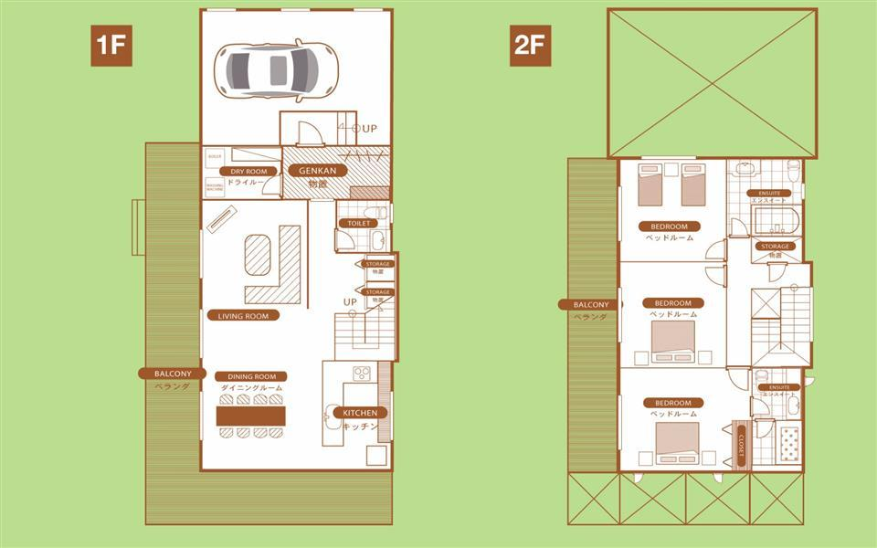 #floorplans 3 Bedroom Hakusan