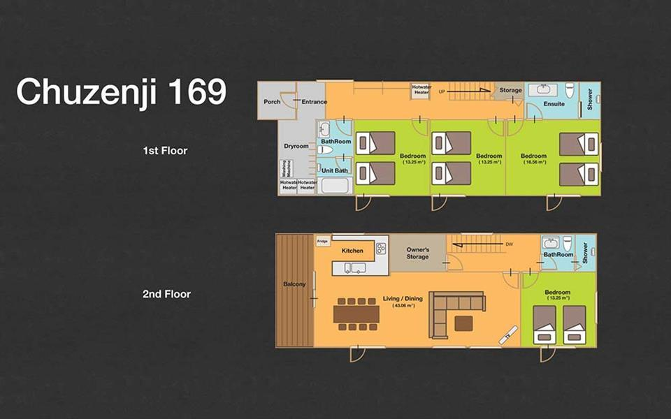 #floorplans 4 Bedroom Chuzenji 169