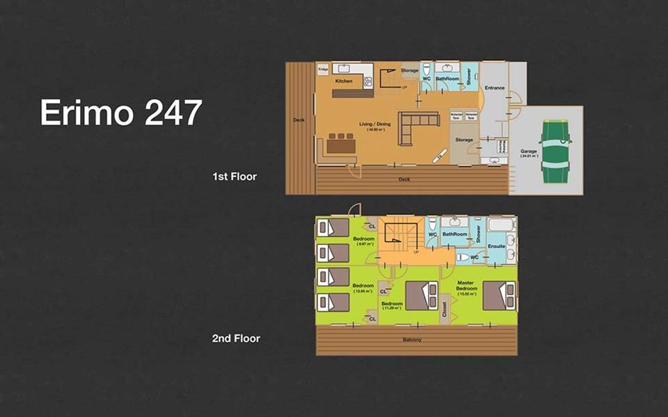 #floorplans 4 Bedroom Erimo 247