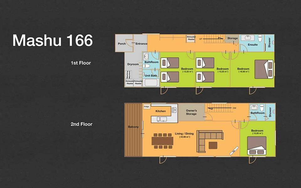 #floorplans 4 Bedroom Mashu 166