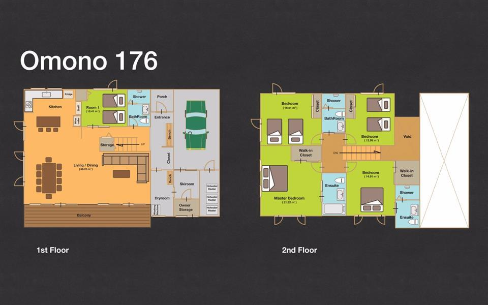 #floorplans 5 Bedroom Omono 176