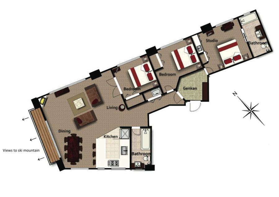 #floorplans Mountain View Deluxe Penthouse