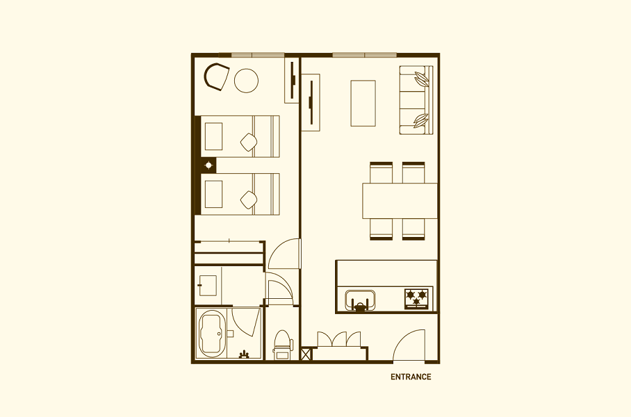 #floorplans 1 Bedroom Apartment
