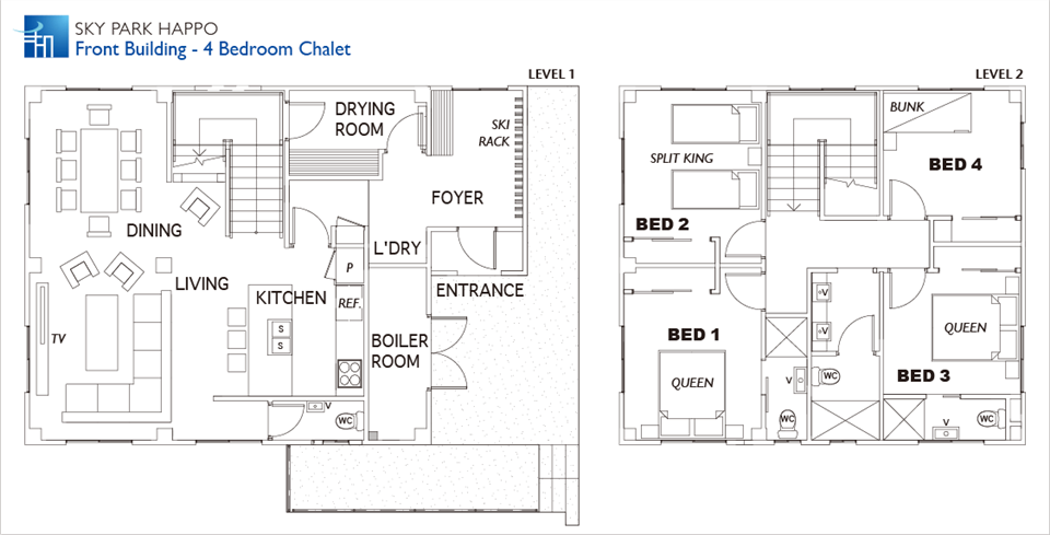 #floorplans 4 Bedroom Chalet