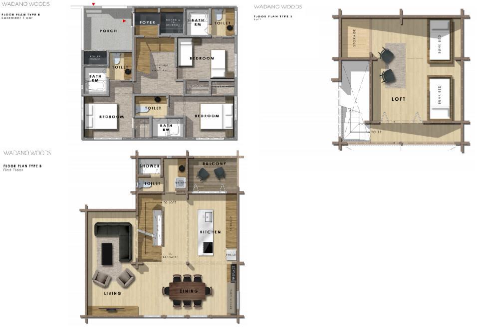 Wadano Woods Chalets 3 Bedroom Plus Loft Chalet.png