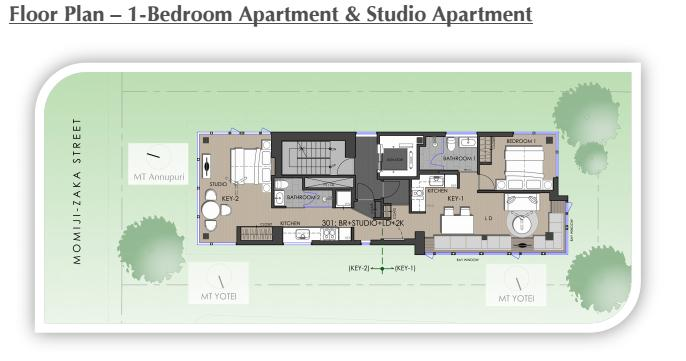 #floorplans 1Bedroom Apartment and Studio Apartment