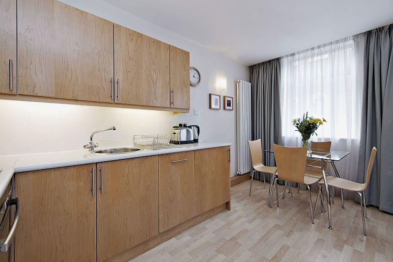 St Christopher's Place - Premium One Bedroom Apartment Kitchen and Dining Room