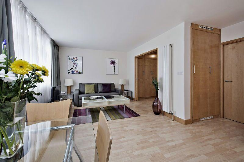 St Christopher's Place - Premium One Bedroom Apartment Living Room
