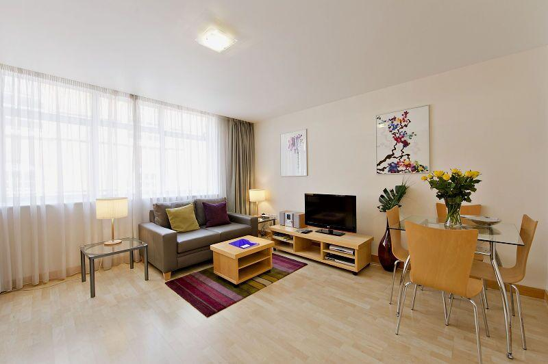 St Christopher's Place - Premium Studio Apartment Living Room