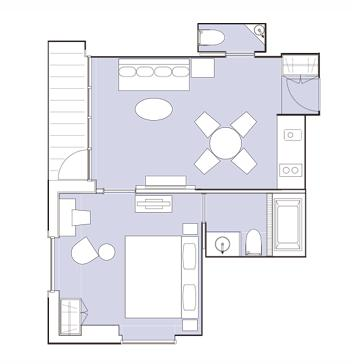 #floorplans 1 Bedroom Suite