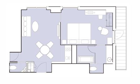 #floorplans Deluxe Onsen Suite, Courtyard View