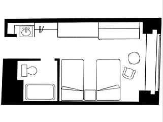 #floorplans Twin Room
