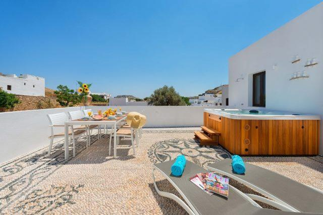 Lindos Diamond - Hot Tub Terrace with plenty of space
