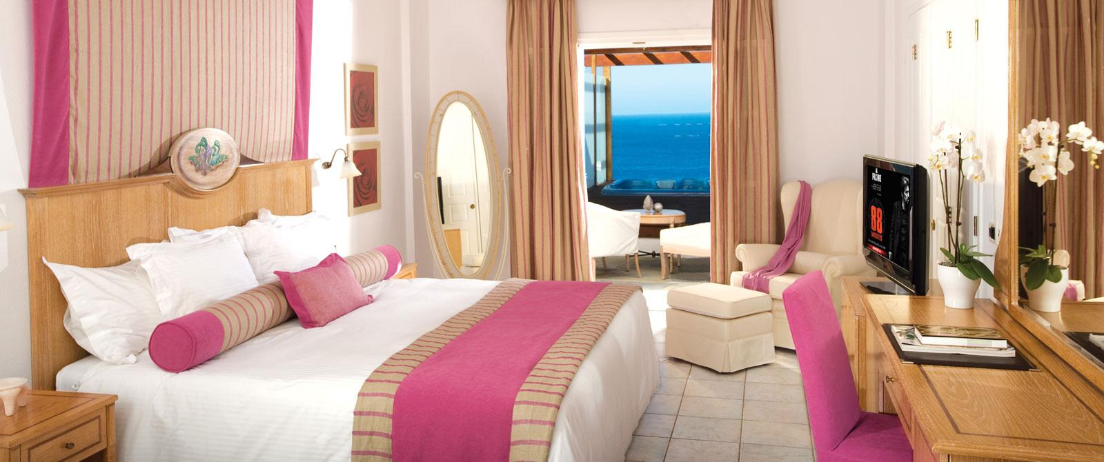 Royal Myconian-Deluxe Double Room with Outdoor Jacuzzi