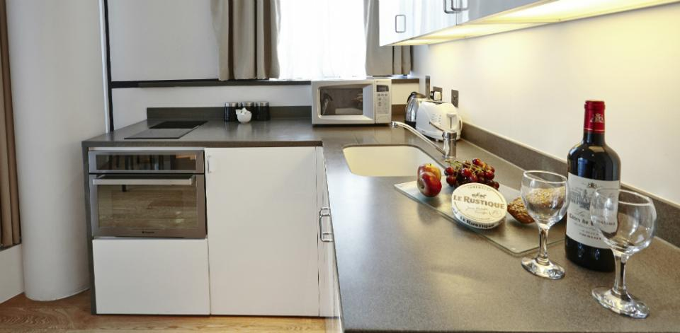 Tower Bridge Apartments - Two bedroom kitchentte
